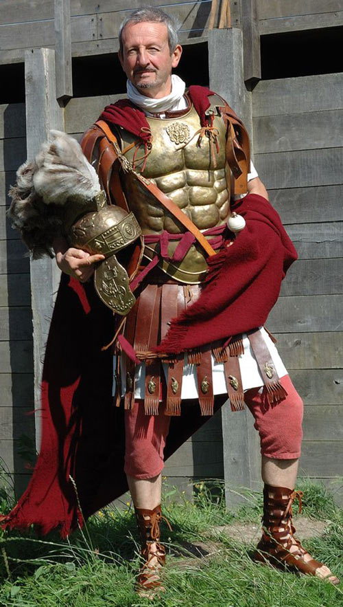 Roman tribune costume with a muscle cuirass