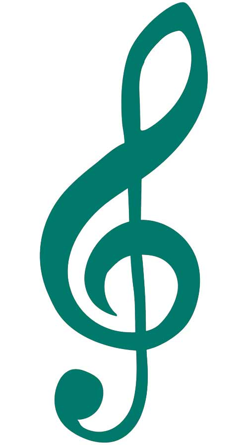 Teal music key