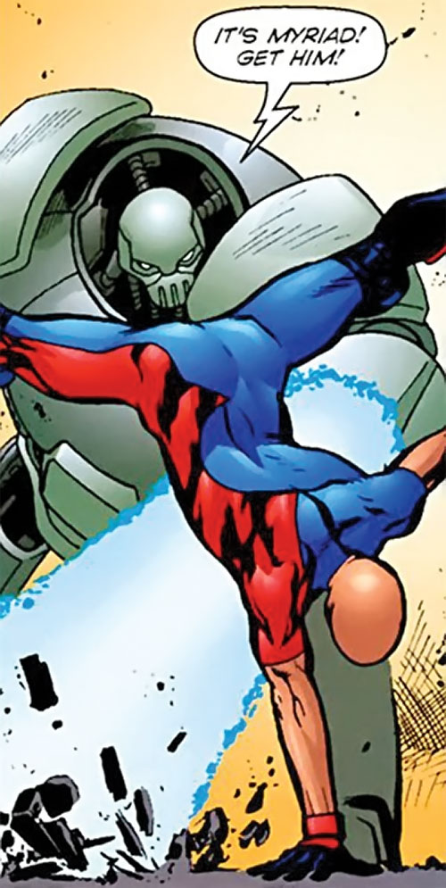 Myriad of Dynamo 5 (Image Comics) fighting a robot