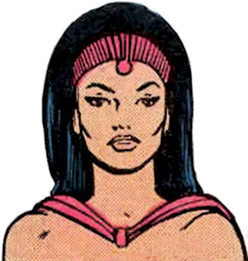Mystelor of the Taurus Gang (Legion of Super-Heroes enemy) (DC Comics) face closeup