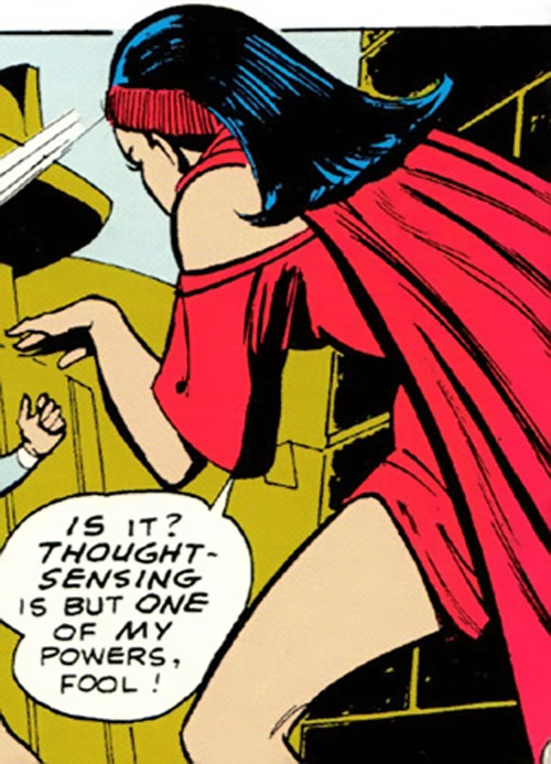 Mystelor of the Taurus Gang (Legion of Super-Heroes enemy) (DC Comics) using her powers