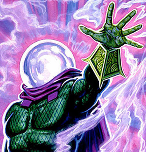 Mysterio (Spider-Man enemy) (Marvel Comics) and swirling fog