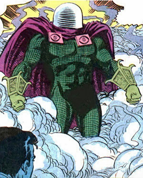 Mysterio (Spider-Man enemy) (Marvel Comics) standing in mist