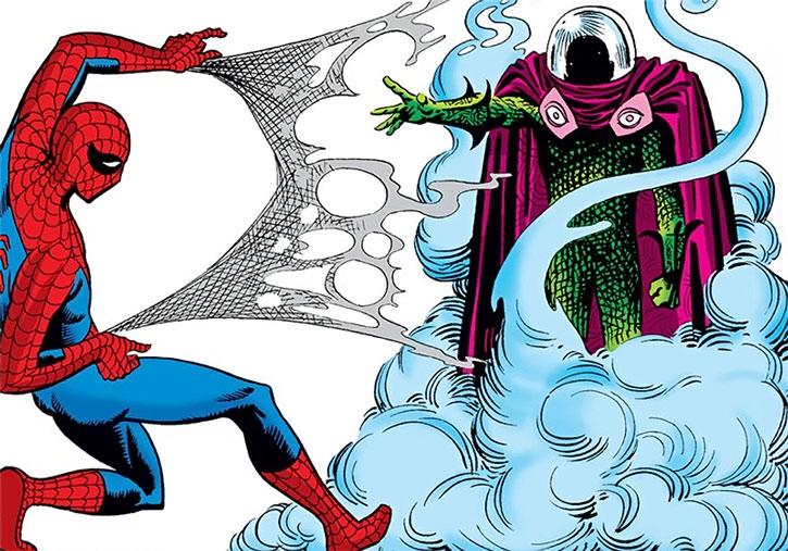 Mysterio defeats Spider-Man's webbing