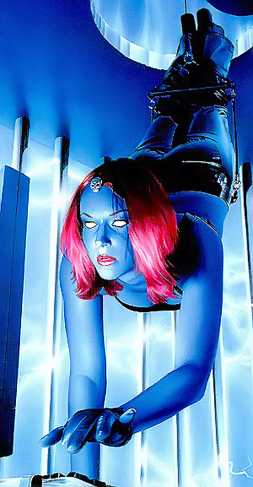Mystique (Marvel Comics) pulling a Tom Cruise