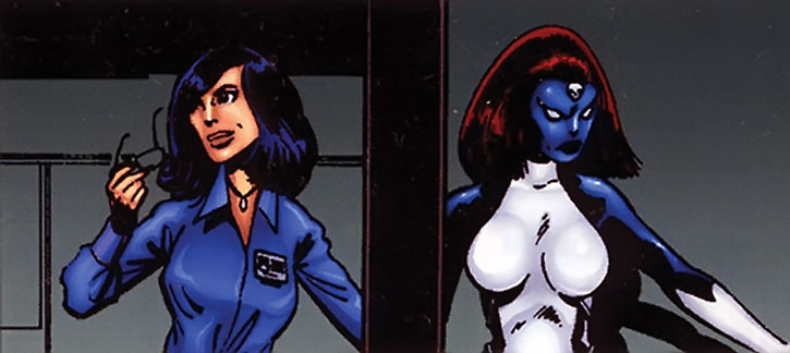 Raven Darkholme turns into Mystique