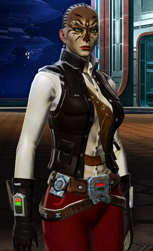 SWTOR - Star Wars the Old Republic- Cathar Smuggler sleeveless jacket