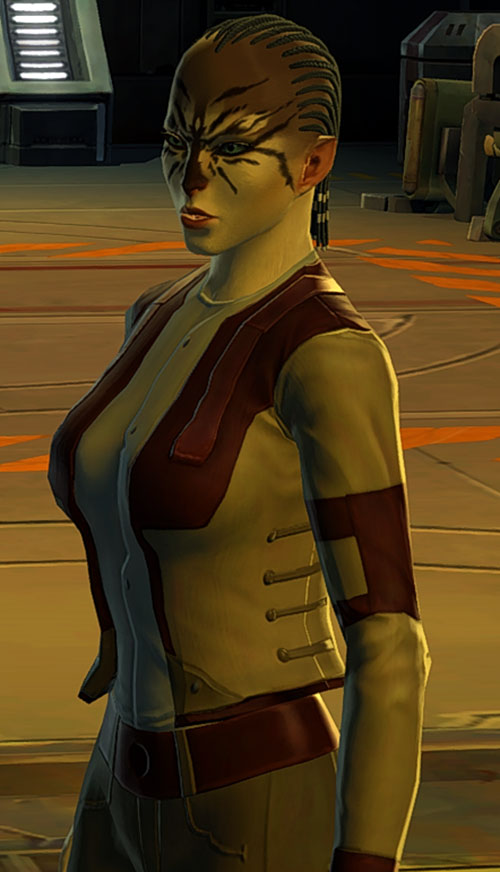 SWTOR - Star Wars the Old Republic- Cathar Smuggler with tan and brown jacket