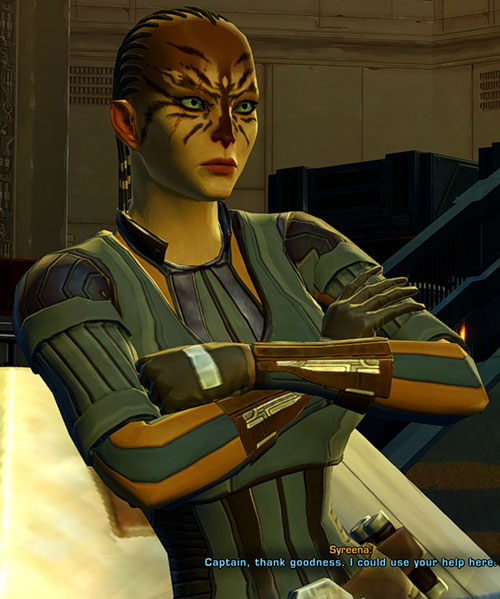 SWTOR - Star Wars the Old Republic- Cathar Smuggler with crossed arms