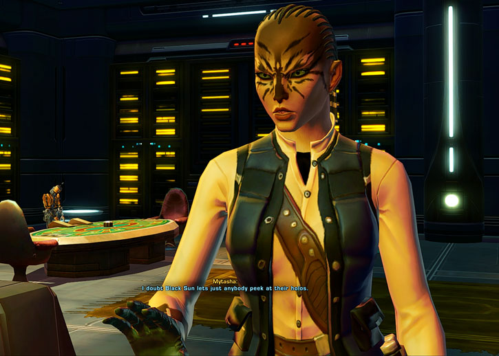 SWTOR - Star Wars the Old Republic- Cathar Smuggler in a casino