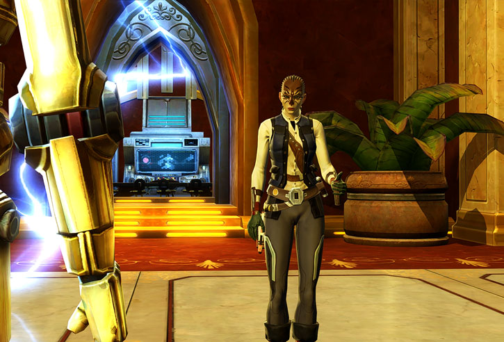 SWTOR - Star Wars the Old Republic- Cathar Smuggler - jamming a droid