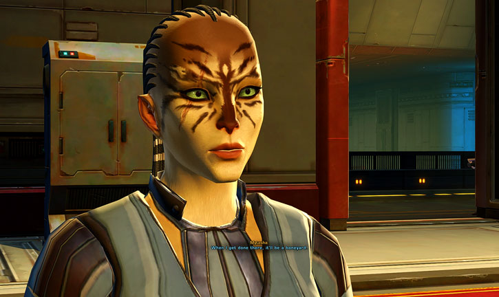 SWTOR - Star Wars the Old Republic- Cathar Smuggler talking intense - banner