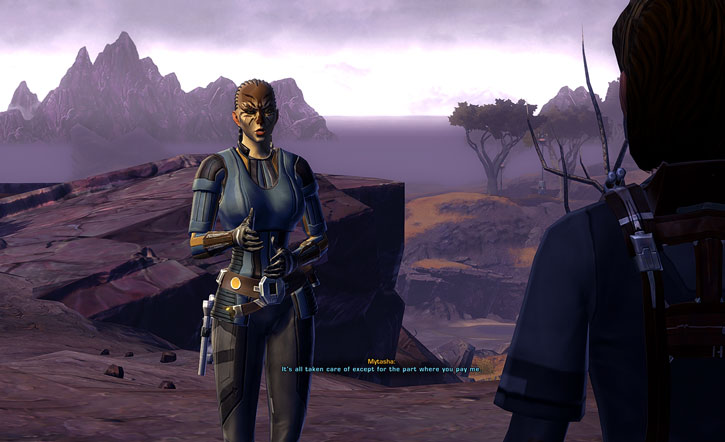 SWTOR - Star Wars the Old Republic- Cathar Smuggler - Ord Mantell coastline