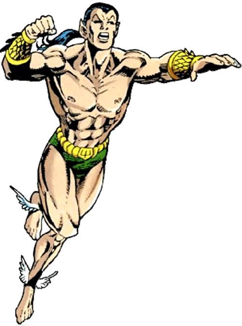 Namor the Submariner (Marvel Comics) flying