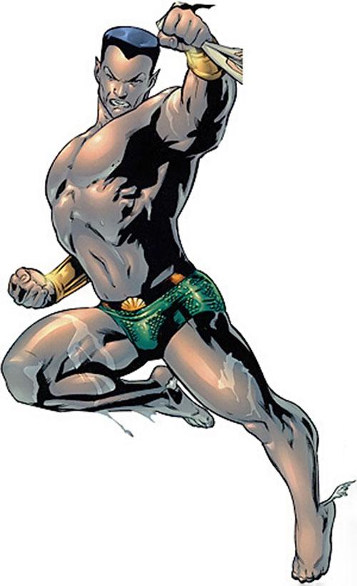 Namor the Submariner (Marvel Comics) is wet