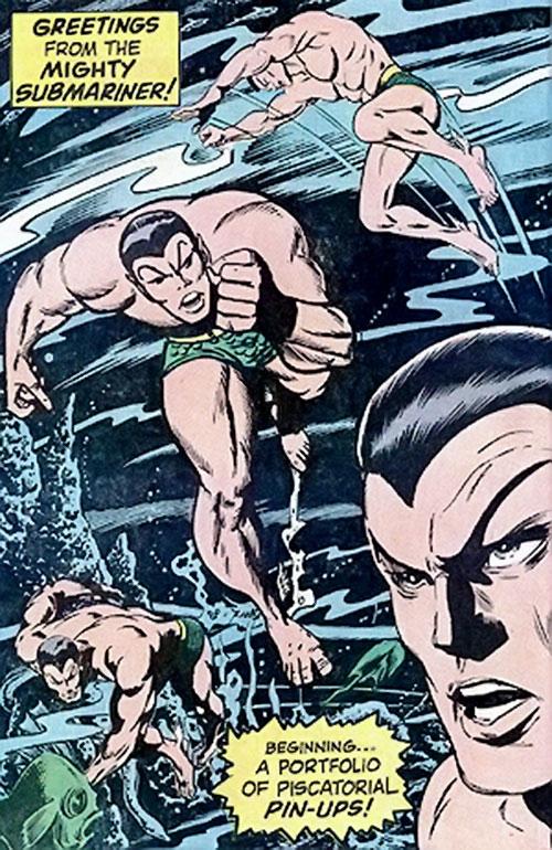 Namor the Submariner (Marvel Comics) 1960s splash page