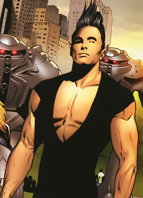 Ultimate Namor (Ultimate Marvel Comics) in a black singlet