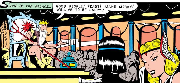 A young Namora at a party in Atlantis