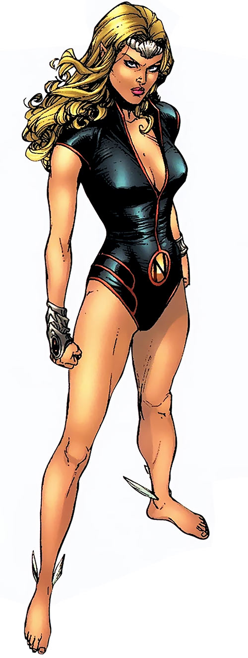 Namora of the Agents of Atlas (Marvel Comics) looking tough