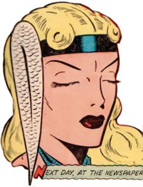 Namora (Golden Age Marvel Timely Comics) face closeup eyes closed