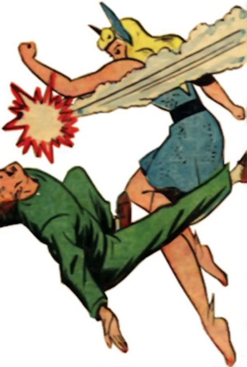 Namora (Golden Age Marvel Timely Comics) punches a guy