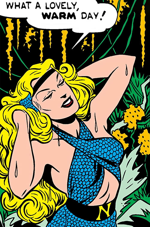 Namora (Golden Age Marvel Timely Comics) enjoying herself