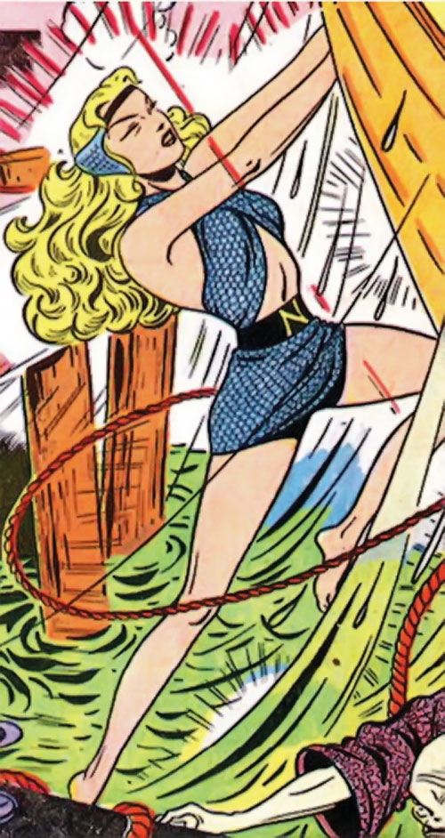Namora (Golden Age Marvel Timely Comics) in action