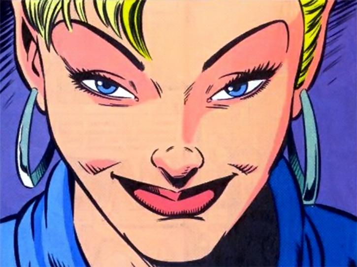 Namorita of the New Warriors (Classic era) (Marvel Comics) smug smile face closeup