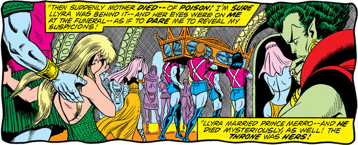 Namorita (Marvel Comics) at Namora's funeral