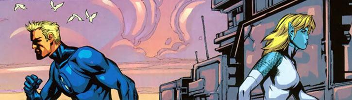Namorita (Marvel Comics) splitting with the Human Torch