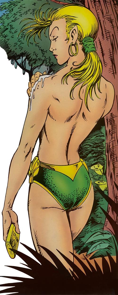 Namorita (Marvel Comics) suntan lotion swimsuit