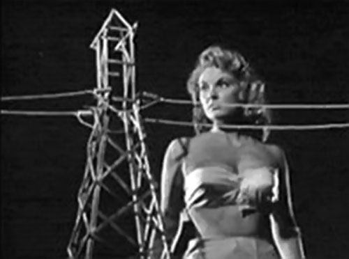 Nancy Archer (Allison Hayes in Attack of the 50 ft Woman) and power lines