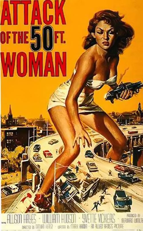 Nancy Archer (Allison Hayes in Attack of the 50 ft Woman) iconic poster