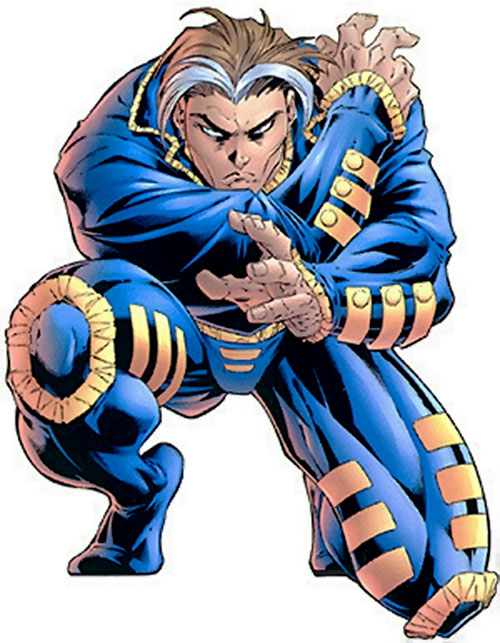 X-Man (Nate Grey) (Marvel Comics) crouching and gesturing