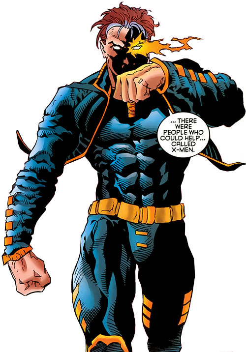 X-Man (Nate Grey) (Marvel Comics) in the black leather outfit