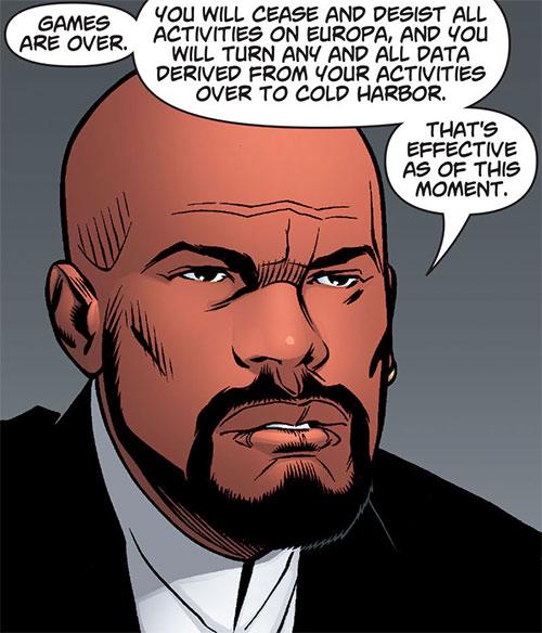 Inspector Nathan Kane (Ocean comic by Ellis) face closeup