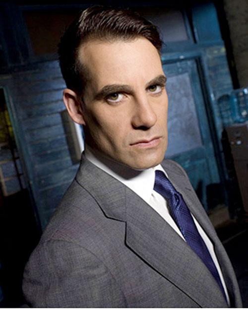 Nathan Petrelli (Adrian Pasdar in NBC's Heroes) face closeup