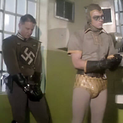 Costumed Nazi and Nite-Owl in the Watchmen movie