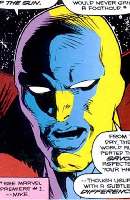 Necromancer (Doctor Strange evil double) (Marvel Comics) face closeup