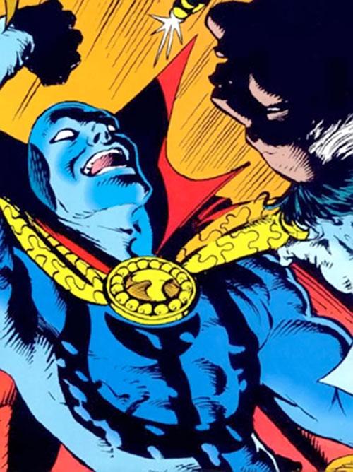 Necromancer (Doctor Strange evil double) (Marvel Comics) gloating