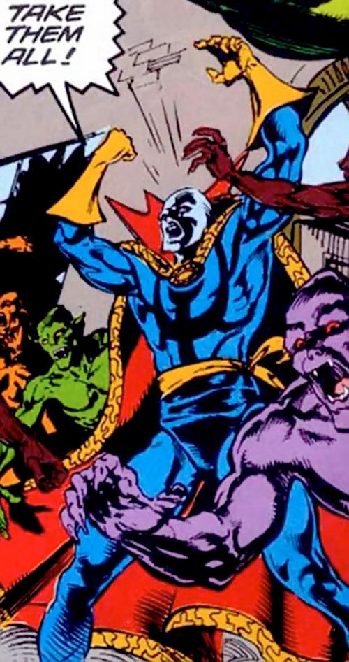 Necromancer (Doctor Strange evil double) (Marvel Comics) and demons