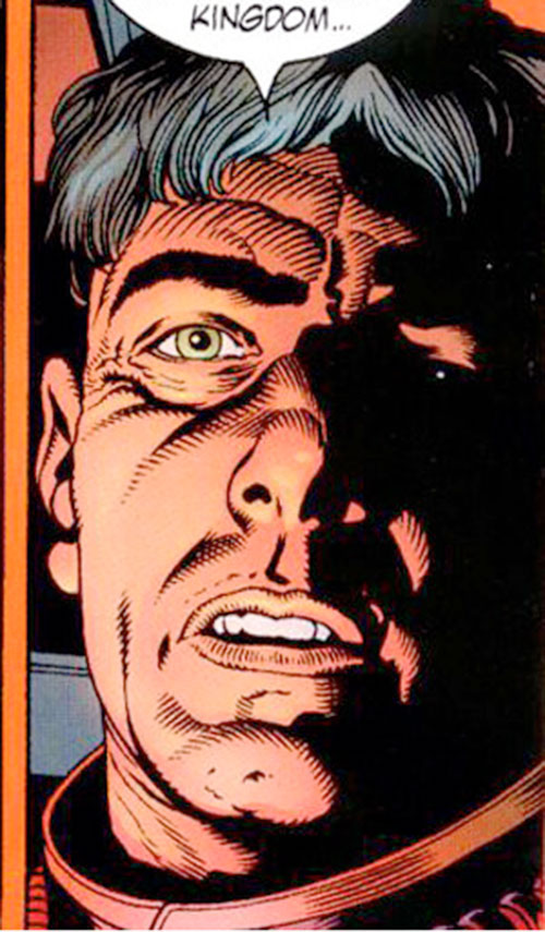 Ned Slade (Grant Morrison's The Filth) face closeup