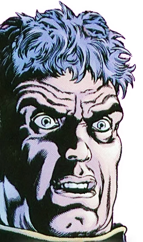 Ned Slade (Grant Morrison's The Filth) shocked face closeup