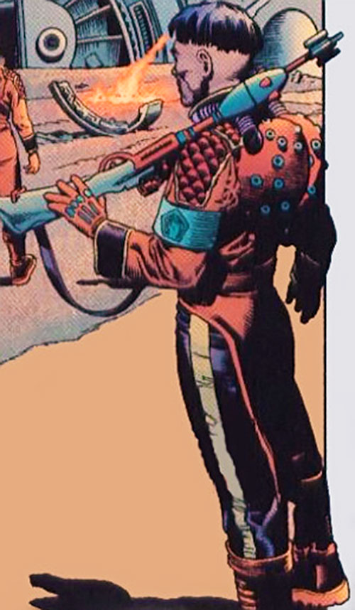 Ned Slade (Grant Morrison's The Filth) with a strange rifle