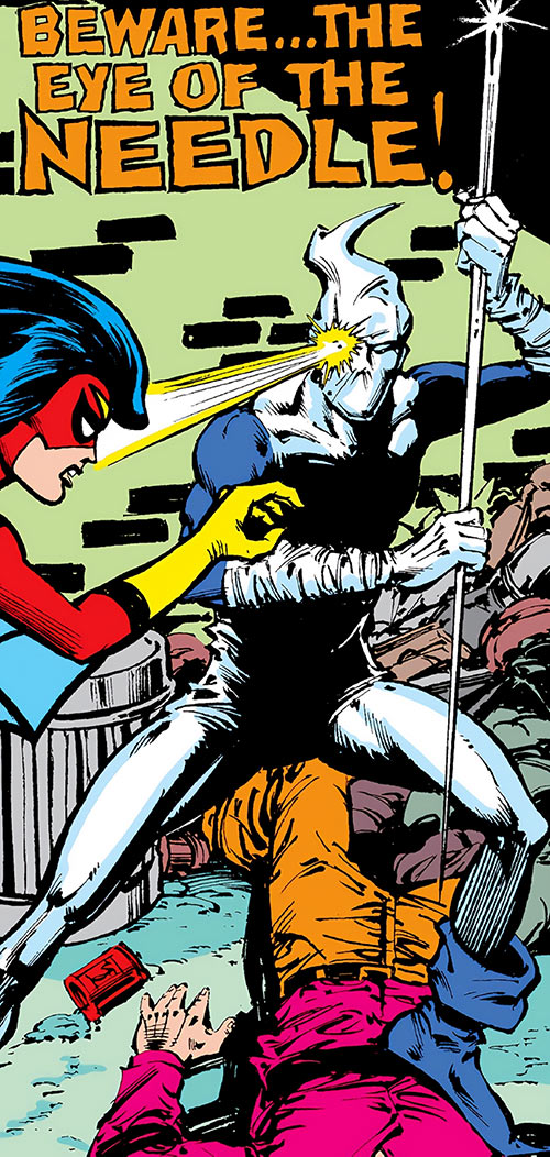 The Needle (Marvel Comics) vs. Spider-Woman