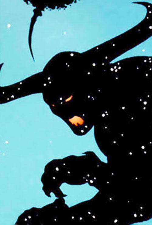 Neh-Buh-Loh (aka the Nebula Man, aka Qwewq) (7 Soldiers) (DC Comics) crouching