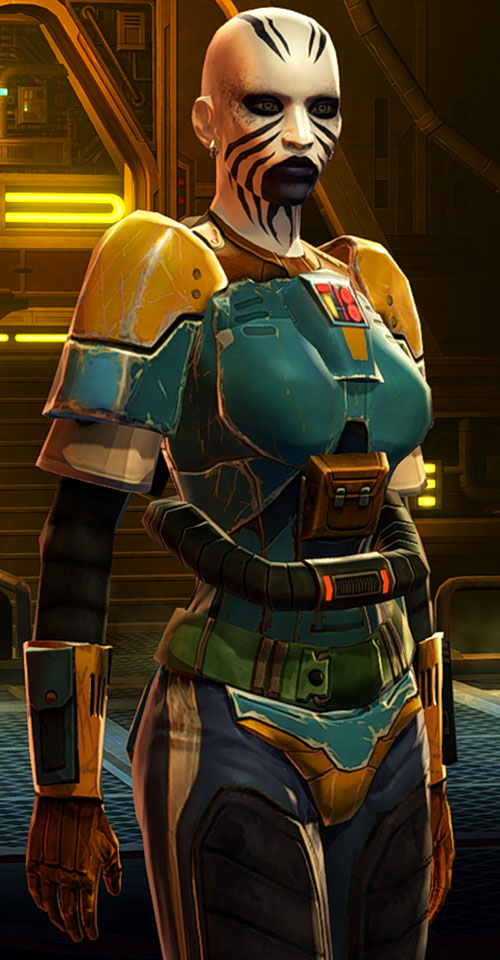 SWTOR - Star Wars the Old Republic - Rattataki female bounty hunter - Plastoid armor