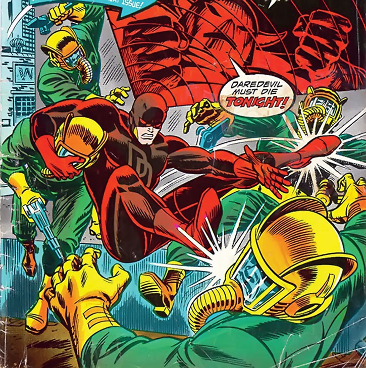 Black Spectre agents vs. Daredevil