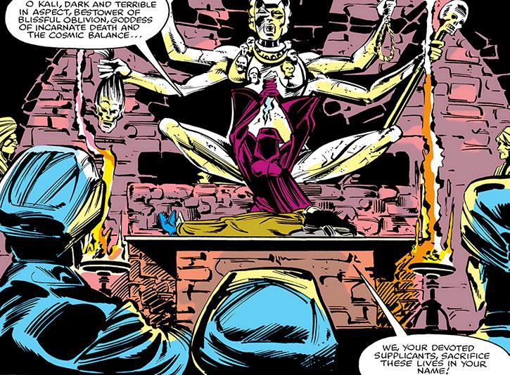 Nekra as a Kali priestess