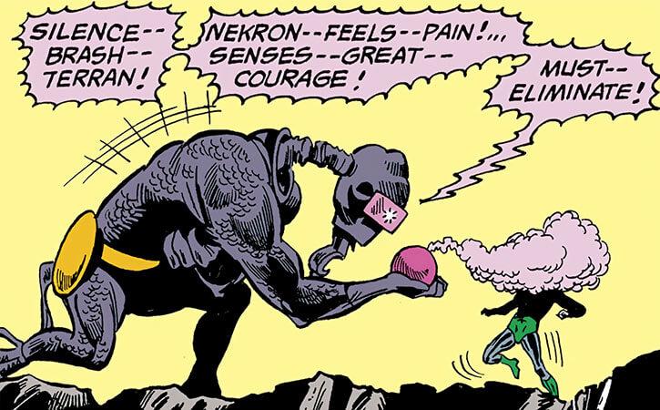 Nekron - DC Comics - Justice League of America enemy - Alien - Side view